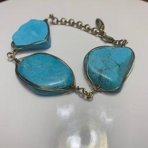 Plunder turquoise stone bracelet